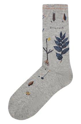 Женские хлопковые носки ANTIPAST серого цвета, арт. AM-706 | Фото 1