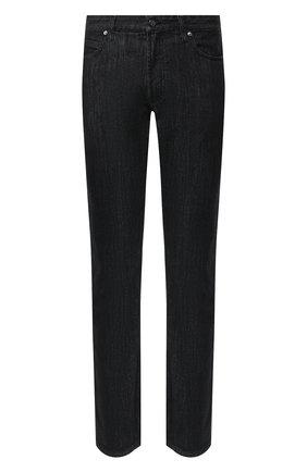 Мужские джинсы прямого кроя GIORGIO ARMANI черного цвета, арт. 3GSJ15/SD30Z | Фото 1