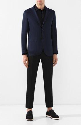 Мужской пиджак из смеси шерсти и кашемира LORO PIANA темно-синего цвета, арт. FAI1039 | Фото 2