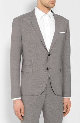 Мужской костюм  NEIL BARRETT серого цвета, арт. PBAB49/L023 | Фото 2