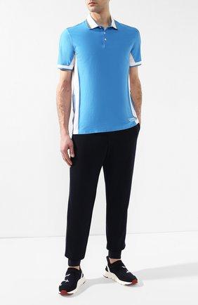Мужские текстильные кроссовки Z ZEGNA темно-синего цвета, арт. A4104X-STE   Фото 2