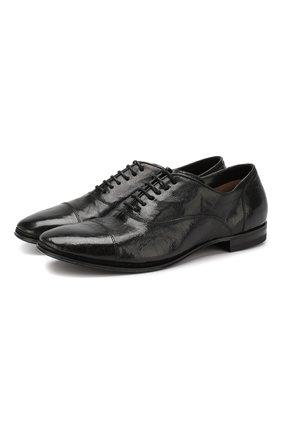 Мужские кожаные оксфорды H`D`S`N BARACCO черного цвета, арт. 69302.0* | Фото 1