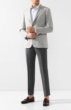 Мужские кожаные монки H`D`S`N BARACCO темно-коричневого цвета, арт. 69422.2* | Фото 2
