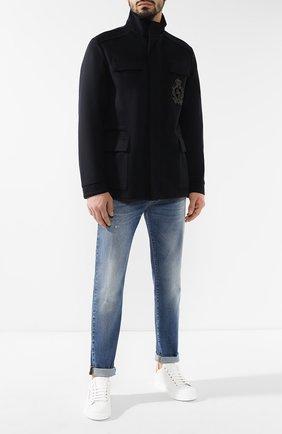 Мужские кожаные кеды portofino light DOLCE & GABBANA белого цвета, арт. CS1591/AN298 | Фото 2