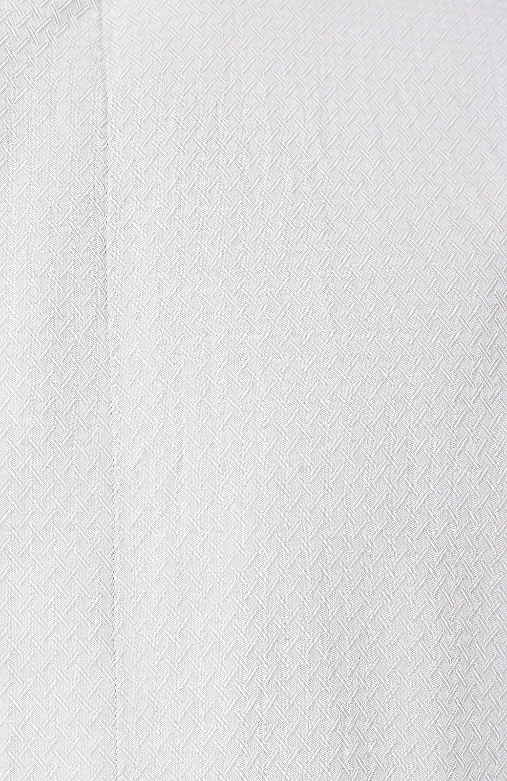 Мужская хлопковая рубашка с воротником мандарин GIORGIO ARMANI серого цвета, арт. 9SGCCZ10/TZ211 | Фото 5