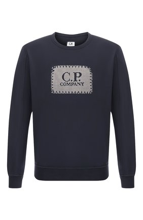 Хлопковый свитшот C.P. Company темно-синий   Фото №1