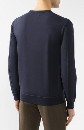 Хлопковый свитшот C.P. Company темно-синий   Фото №4