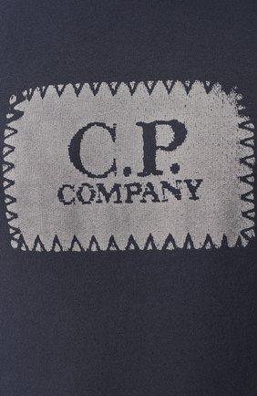 Хлопковый свитшот C.P. Company темно-синий   Фото №5