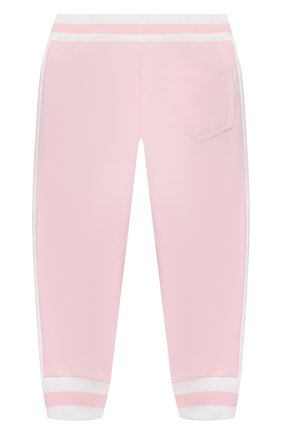 Детские хлопковые джоггеры MONNALISA розового цвета, арт. 393413R8 | Фото 2