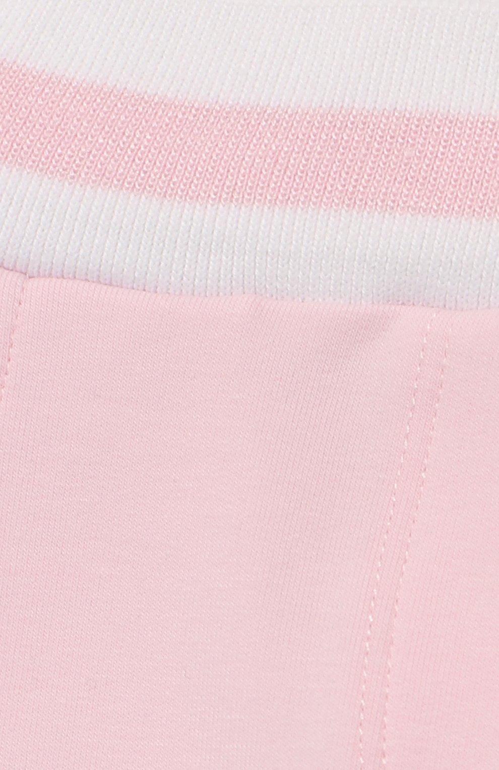 Детские хлопковые джоггеры MONNALISA розового цвета, арт. 393413R8 | Фото 3