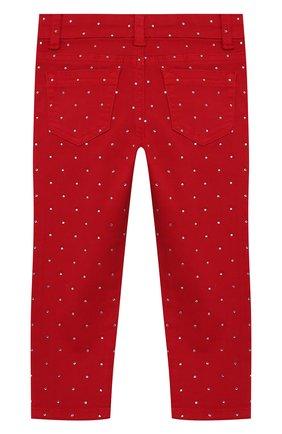 Детские джинсы со стразами MONNALISA красного цвета, арт. 393415A7 | Фото 2