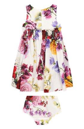 Женский комплект из хлопкового платья и шорт DOLCE & GABBANA разноцветного цвета, арт. L21DK3/HS5CX | Фото 2