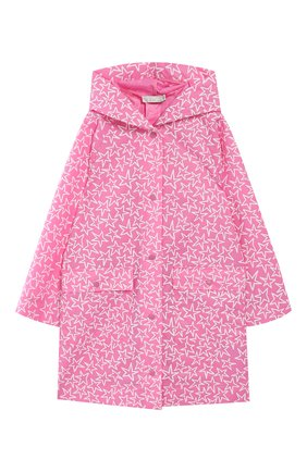 Детская плащ с капюшоном STELLA MCCARTNEY розового цвета, арт. 540930/SMK99   Фото 1