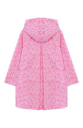 Детская плащ с капюшоном STELLA MCCARTNEY розового цвета, арт. 540930/SMK99 | Фото 2