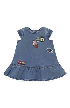 Женский джинсовое платье KENZO синего цвета, арт. KN30037/6M-18M | Фото 1