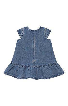 Женский джинсовое платье KENZO синего цвета, арт. KN30037/6M-18M | Фото 2