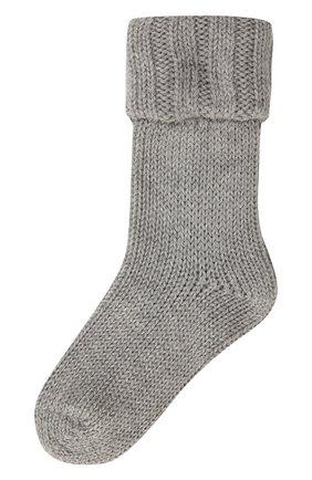 Детские носки из шерсти и хлопка FALKE серого цвета, арт. 10408 | Фото 1