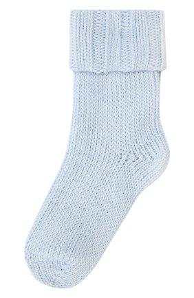 Детские носки из шерсти и хлопка FALKE голубого цвета, арт. 10408 | Фото 1