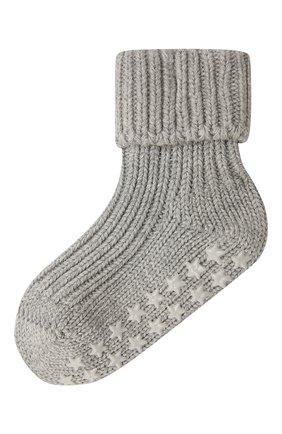 Детские хлопковые носки FALKE серого цвета, арт. 10603 | Фото 1
