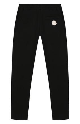 Детские хлопковые брюки MONCLER ENFANT черного цвета, арт. E1-954-87070-05-809AG/12-14A | Фото 2