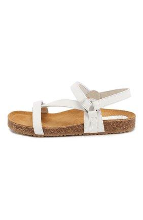 Детские кожаные сандалии IL GUFO белого цвета, арт. G568/VITELL0 NABUK/27-30 | Фото 2
