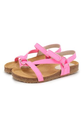 Детские кожаные сандалии IL GUFO фуксия цвета, арт. G568/NABUK FLU0/31-34 | Фото 1