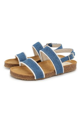 Детские текстильные сандалии IL GUFO синего цвета, арт. G567/JEANS/35-40 | Фото 1