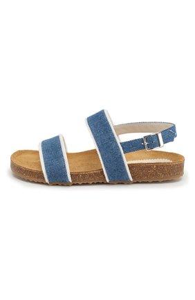 Детские текстильные сандалии IL GUFO синего цвета, арт. G567/JEANS/35-40 | Фото 2