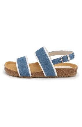 Детские текстильные сандалии IL GUFO синего цвета, арт. G567/JEANS/31-34 | Фото 2