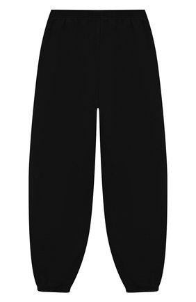 Детские хлопковые джоггеры BALENCIAGA черного цвета, арт. 556159/TDV29   Фото 2