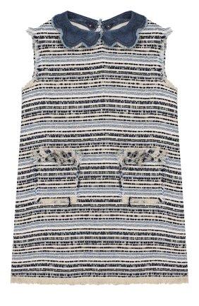 Буклированное мини-платье | Фото №1