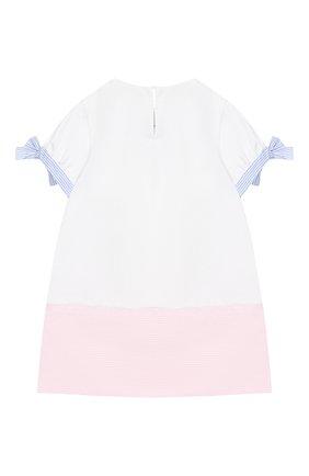 Детское мини-платье SIMONETTA белого цвета, арт. 1K1671/KB060/5-8 | Фото 2