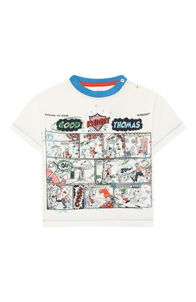 Детский хлопковая футболка BURBERRY разноцветного цвета, арт. 8006943 | Фото 1