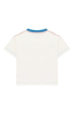 Детский хлопковая футболка BURBERRY разноцветного цвета, арт. 8006943 | Фото 2