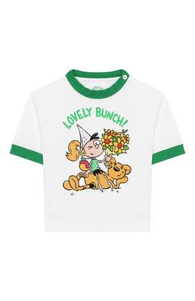 Детский хлопковая футболка BURBERRY белого цвета, арт. 8006968 | Фото 1