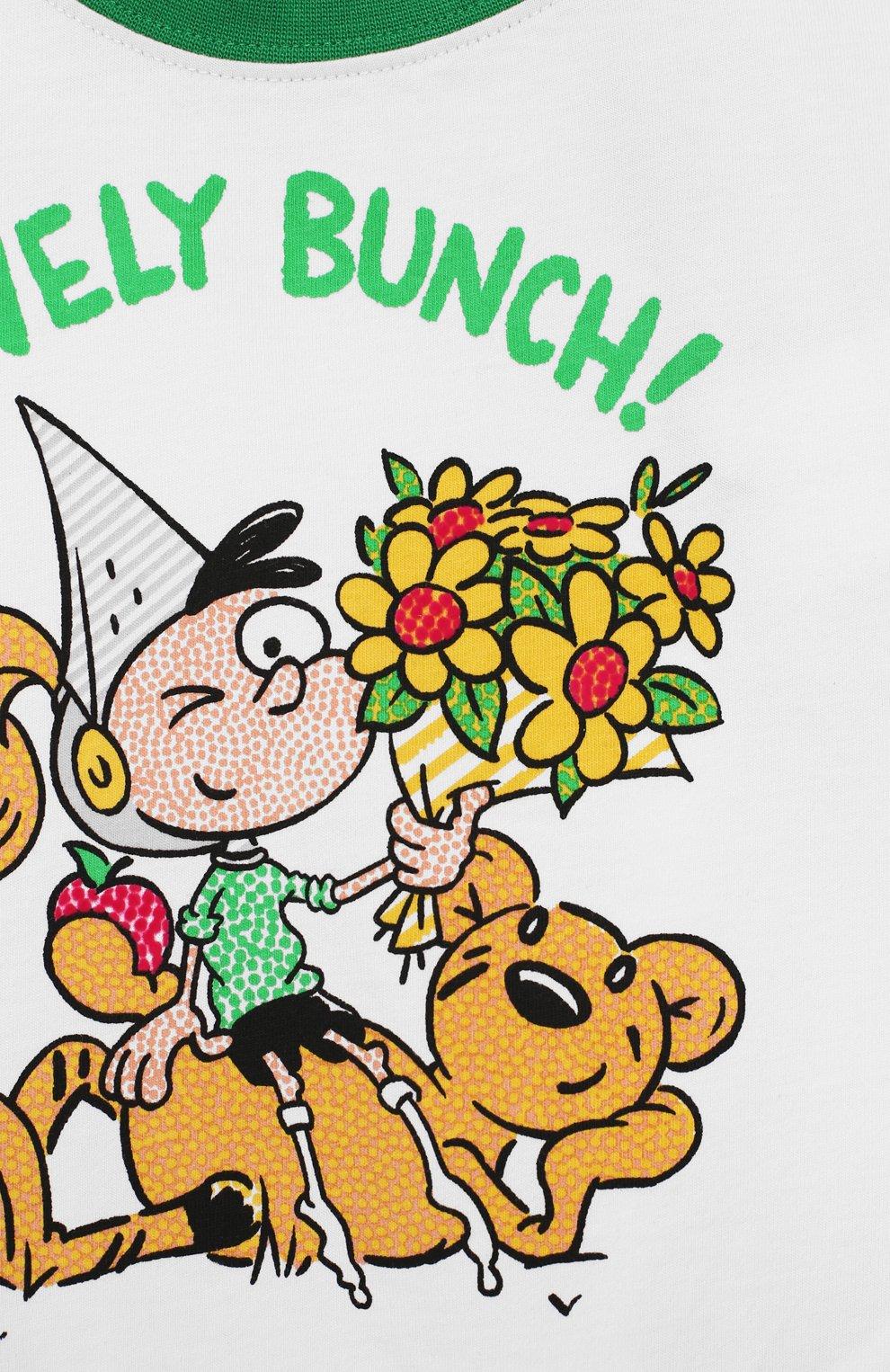 Детская хлопковая футболка BURBERRY белого цвета, арт. 8006969 | Фото 3
