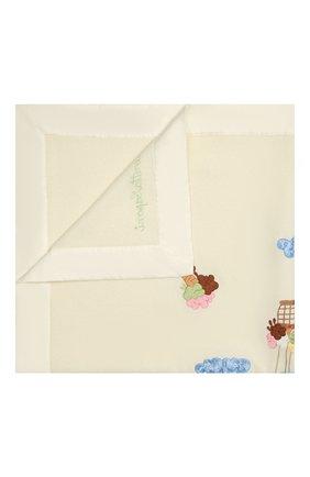 Детского шерстяное одеяло LORETTA CAPONI бежевого цвета, арт. 191K13408302002 | Фото 1