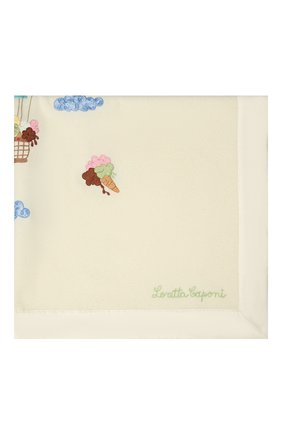 Детского шерстяное одеяло LORETTA CAPONI бежевого цвета, арт. 191K13408302002 | Фото 2