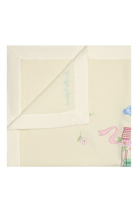Детского шерстяное одеяло LORETTA CAPONI бежевого цвета, арт. 191K13398302002 | Фото 1
