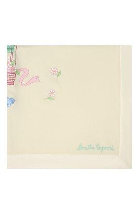 Детского шерстяное одеяло LORETTA CAPONI бежевого цвета, арт. 191K13398302002 | Фото 2