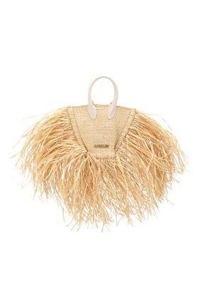 Женская сумка baci mini JACQUEMUS бежевого цвета, арт. 191BA08   Фото 1