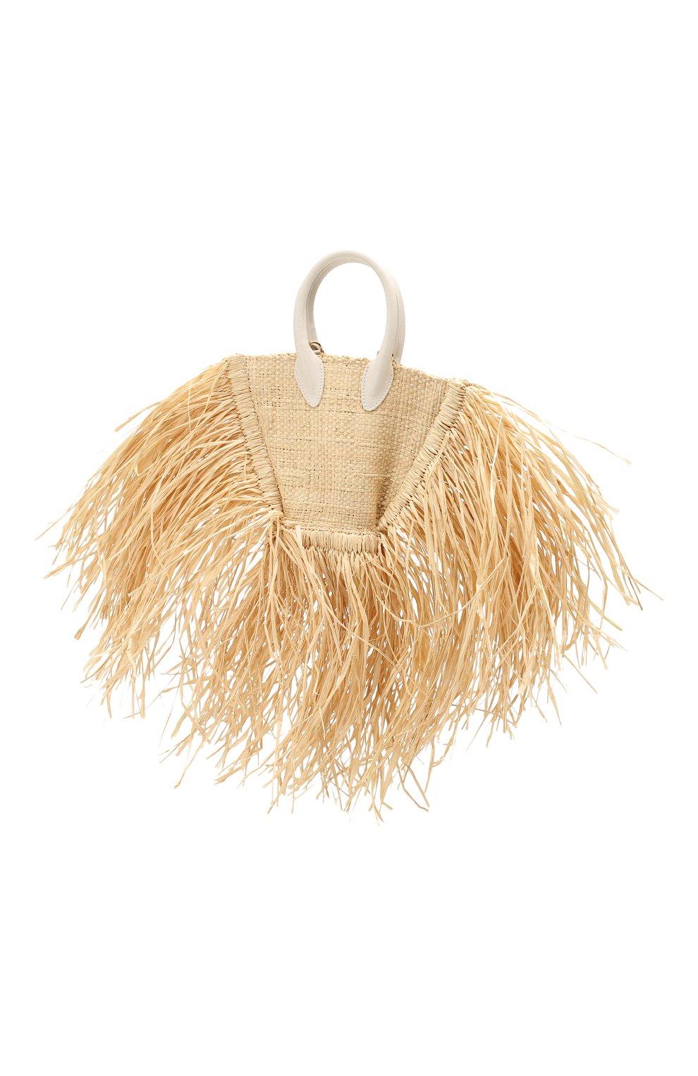Женская сумка baci mini JACQUEMUS бежевого цвета, арт. 191BA08   Фото 3