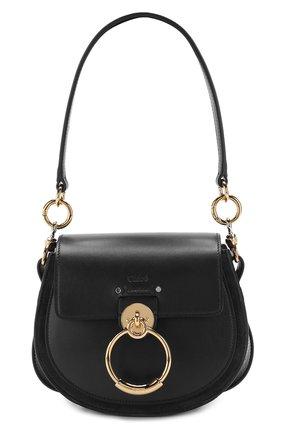 Женская сумка tess small CHLOÉ черного цвета, арт. CHC18WS153A37 | Фото 1