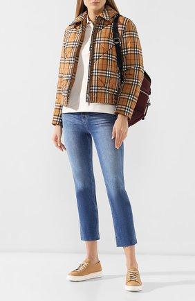 Женские кожаные кеды SANTONI бежевого цвета, арт. WBCE53853BARCMYLE50 | Фото 2