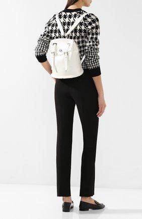 Женский кожаный рюкзак RALPH LAUREN белого цвета, арт. 435742777 | Фото 2
