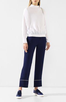 Женские кожаные кеды SANTONI синего цвета, арт. WBCE53853BARCMYLU45 | Фото 2