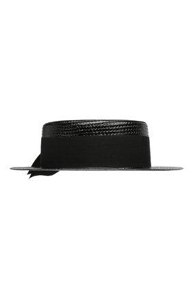 Шляпа канотье Saint Laurent черного цвета | Фото №2