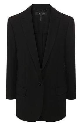 Женский шерстяной жакет RAG&BONE черного цвета, арт. W265404NJ   Фото 1