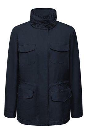Женская куртка с капюшоном LORO PIANA темно-синего цвета, арт. FAF8482 | Фото 1