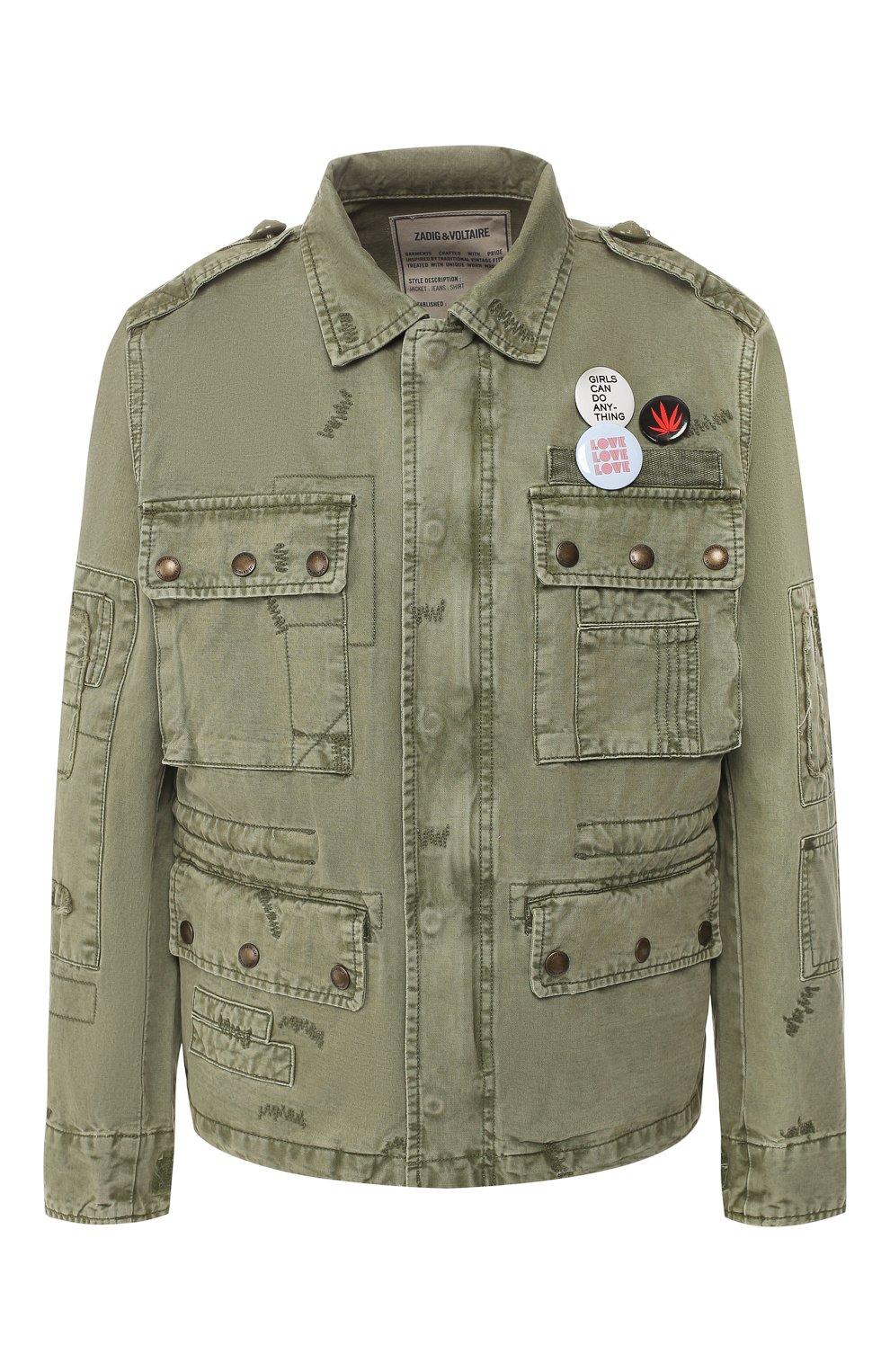 Хлопковая куртка   Фото №1